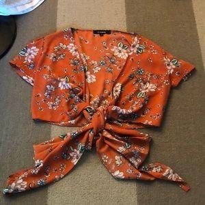 floral tie shirt!